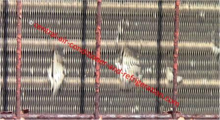 HVAC condenser bend fin