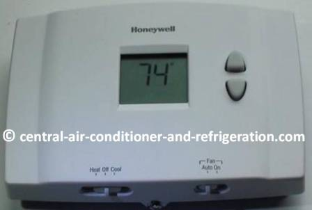 Digital HVAC thermostat