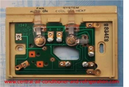 air Conditioning Thermostats -- How To Wire A Thermostat on home air conditioning wiring diagrams, trane air conditioners wiring diagrams, automotive air conditioning wiring diagrams, mitsubishi air conditioners wiring diagrams, central air conditioning wiring diagrams, window air conditioning wiring diagrams, auto air conditioning wiring diagrams, carrier air conditioning wiring diagrams, york air conditioners wiring diagrams,
