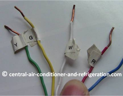 Thermostat_wire_label how to change ac thermostats Central Air Conditioner Wiring Diagram at soozxer.org