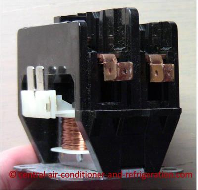 Ac contactor side view