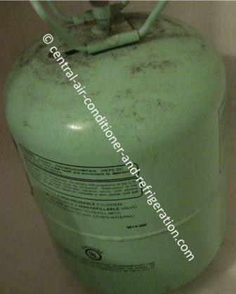 R22 refrigerant tank