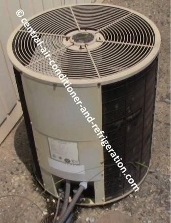 Round HVAC condenser