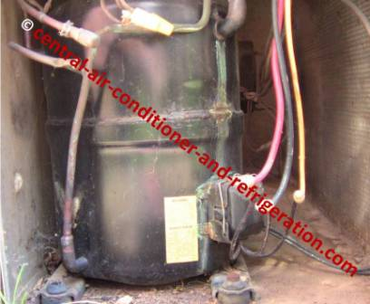 Sealed HVAC hermetic compressor