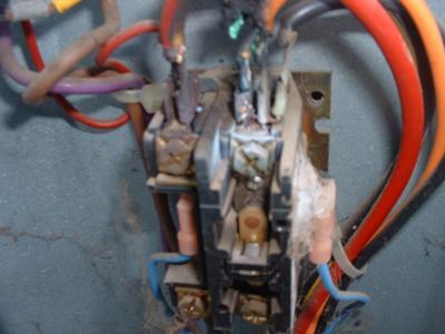 Burnt wires