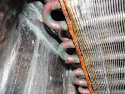 Closeup of coil rust